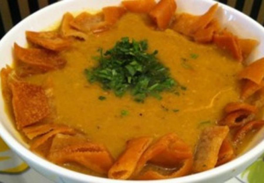 Lentils soup fattah…